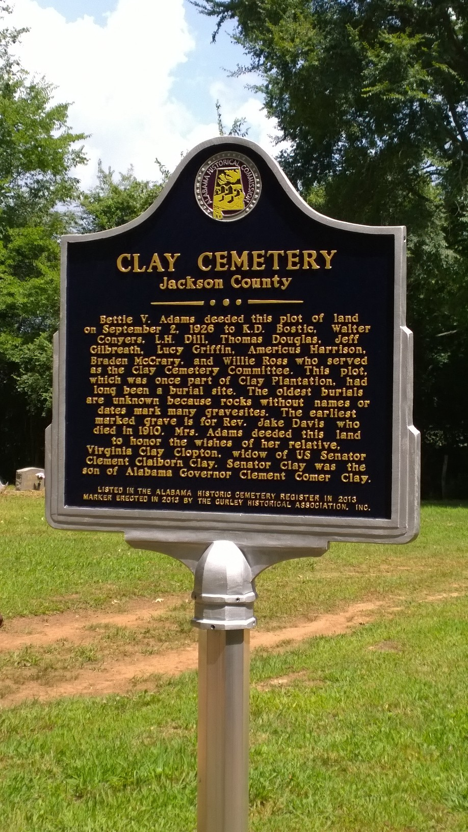 Clay Cemetery in Gurley Alabama Web Services Offered by ...